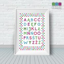 Alfabet w kropki biały